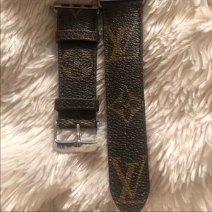 Upcycled LV Apple Watch Band 38mm